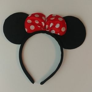 4/$15 🌻 Kids Minnie Mouse Ear Headband w/ Red Bow